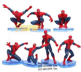 Spiderman Figurine PlaySet Cake Decoration 7pcs