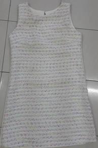 White colourful dot dress skirt