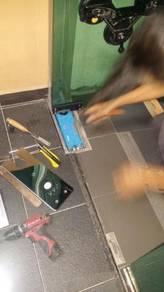 REPAIR PINTU KACA l hydraulic closer system