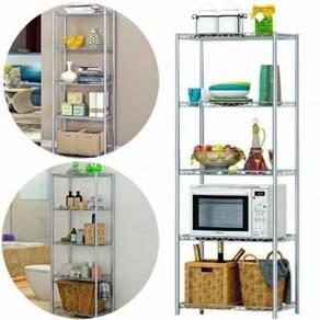 5 tier metal rack