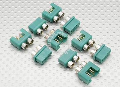MPX connector with silver color ring, male and fem