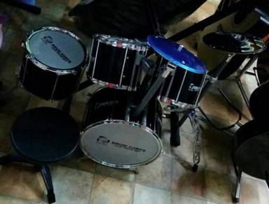 Junior Drum Set (4 Pcs) :Black