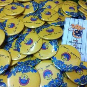 Button Badge Pin Design Jawi Custom
