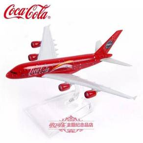 Coca Cola A380 Airplane Model