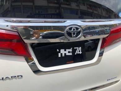 Toyota vellfire alphard 30 number no plate chrome