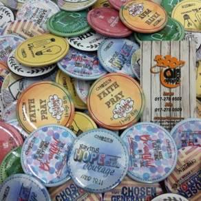 Button Badge 55mm Pelbagai Design Custom