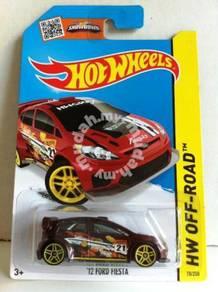 Hotwheels '12 Ford Fiesta #78 Maroon