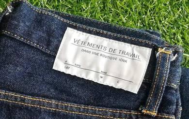 VETEMENTS de travail selvedge blue jeans kueii
