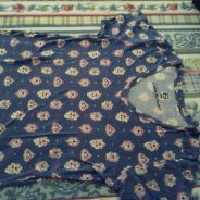 Blue printed top from UNIQLO
