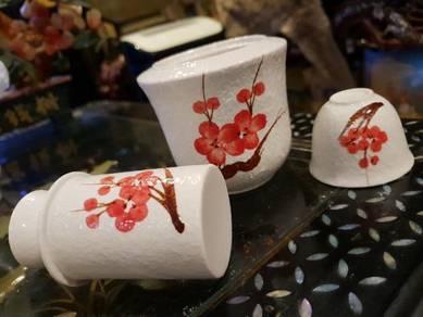 Japanese vintage wine heater porcelain SLG