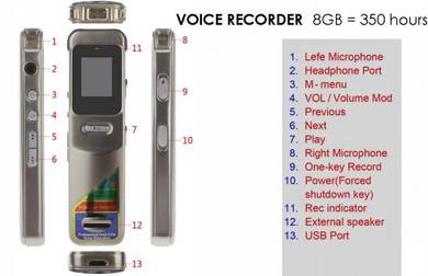 Voice Recorder Professional 8GB