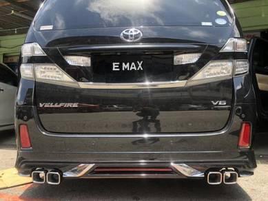 Toyota vellfire alphard rear bumper skirt bodykit