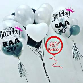 Personalised Balloon- Boleh Tulis apa sahaja
