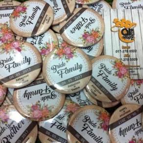 Tempah Design Wedding Button Badge March
