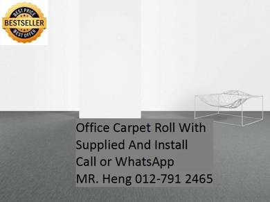 Natural Office Carpet Roll with install TP19