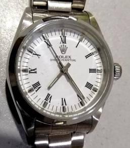 Jam Old school index Roman steel watch