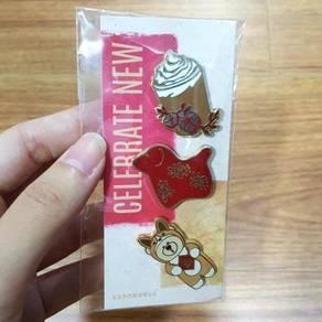 Starbucks Dog Year CNY Pin Set