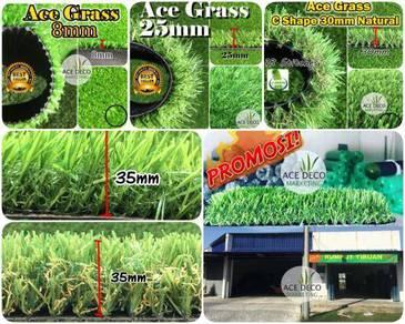 TERBAIK SERAT C Artificial Grass Rumput Tiruan 24