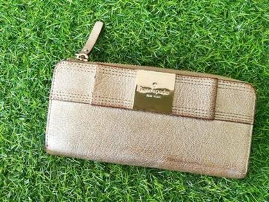 Ori KATE SPADE ribbon leather wallet purse kueii
