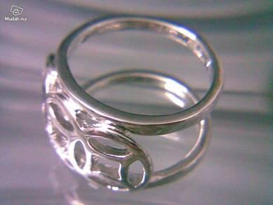 ABRSM-H001 H_style Silver Metal Ring Sz 9 - 13mm