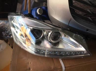 Mercedes w221 facelift head lamp w221 bodykit