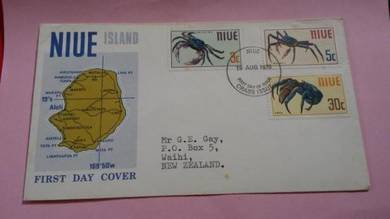 First Day Cover FDC NIUE Crabs 1970 No 541