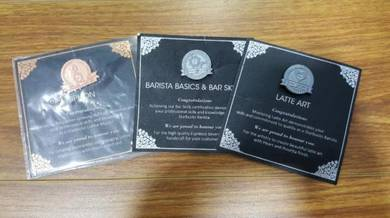 Starbucks Barista Bronze & Silver Pin