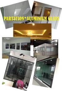 Partition /suspended ceiling /aluminium glass.tipi