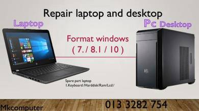 Servis laptop and desktop