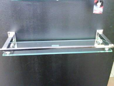 Bathroom glass rack shampoo / rak sabun