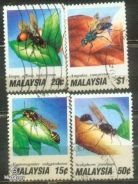 Use-d Stamp Insects Malaysia 1991