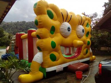 Sponge Bob inflatable bouncer with safety seremban