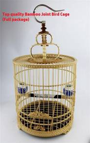 Bamboo Joint Bird Cage Sangkar Burung Full Package