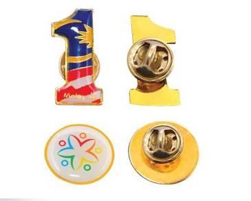 GOLD ROUND Metal collar pin