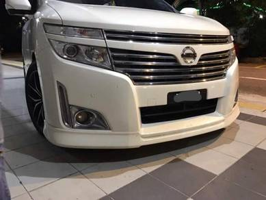 Nissan elgrand front lip skirt bodykit with paint
