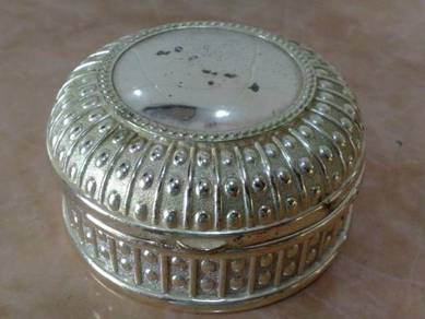 Kotak tembaga brass jewellery trinket box