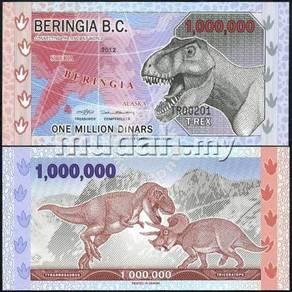 BERINGIA B.C. 1 million dinars 2012 POLYMER UNC