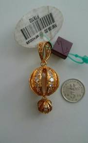 Gold plated pendant / loket emas saduran zhulian