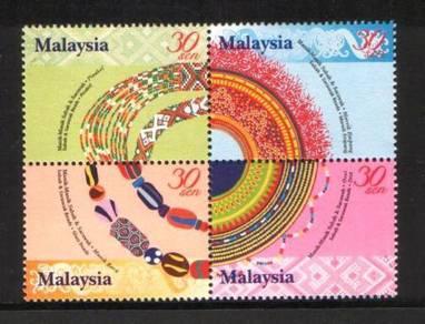Mint Stamp Beads (Manik) Malaysia 2001