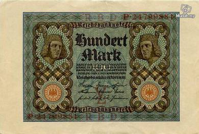 Germany 100 marks 1920 vf