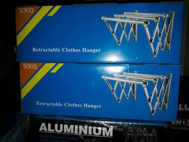 Rectractable Cloth Hanger 6FT - Ampaian baju