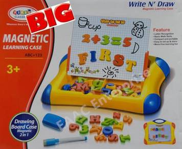 BIG Magnetic Learning Case Drawing Board Alphabet