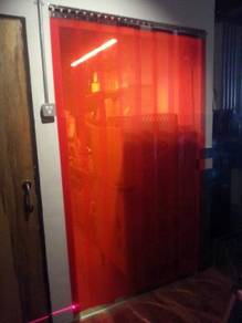 Welding Red Tinted PVC Strip Curtain