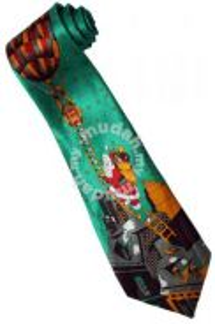 Christmas Santa Claus Xmas #24 Balloon GR Neck Tie