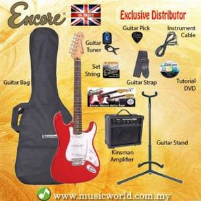 Encore e6 electric guitar pack red