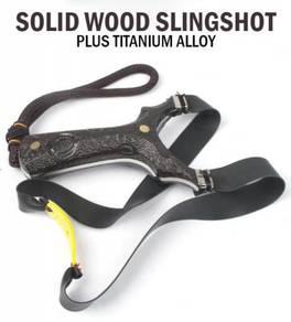 Solid Wood Slingshot Flat III | Lastik Kayu