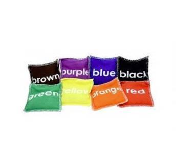 10cm Coloured Bean Bags (8/set)