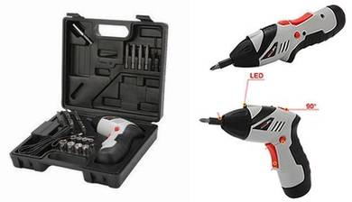 Easy Rechargeable Cordless Screwdriver Kit