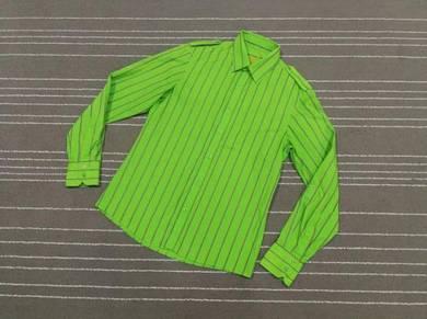 Top man kemeja hijau size m