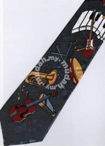 Keyboard Guitar Violin Trumpet GY Cartoon Neck Tie